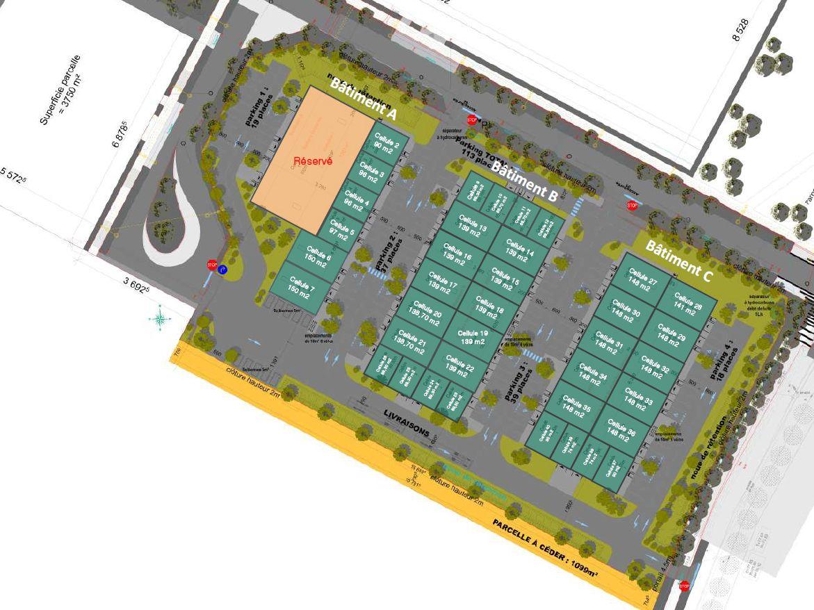 Local d'activités de 96 m², Saint-Fargeau-Ponthierry (77310)